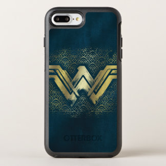 Wonder Woman Brushed Gold Symbol OtterBox Symmetry iPhone 8 Plus/7 Plus Case