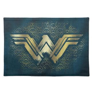 Wonder Woman Brushed Gold Symbol Placemat