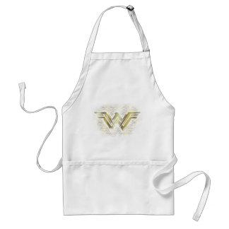 Wonder Woman Brushed Gold Symbol Standard Apron