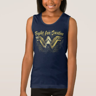 Wonder Woman Brushed Gold Symbol Tank Top