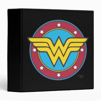 Wonder Woman | Circle & Stars Logo Vinyl Binders