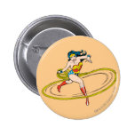 Wonder Woman Circled with Lasso 2 Inch Round Button