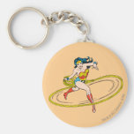 Wonder Woman Circled with Lasso Basic Round Button Keychain