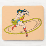 Wonder Woman Circled with Lasso Mouse Pad