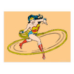 Wonder Woman Circled with Lasso Postcard