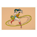Wonder Woman Circled with Lasso Poster