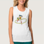 Wonder Woman Circled with Lasso Flowy Muscle Tank Top