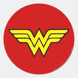 Wonder Woman | Classic Logo Round Sticker