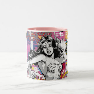 Wonder Woman Collage 3 Two-Tone Coffee Mug