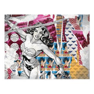 Wonder Woman Collage 5 Postcard