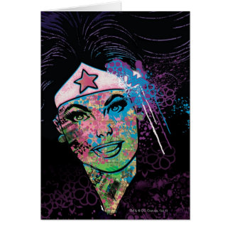 Wonder Woman Colorful Collage Card