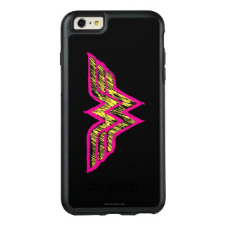 Wonder Woman Colorful Pink and Yellow Logo OtterBox iPhone 6/6s Plus Case