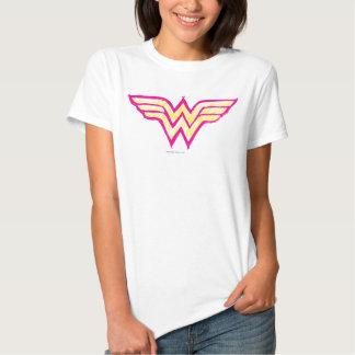 Wonder Woman Colorful Pink and Yellow Logo Tshirts