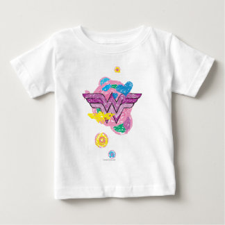 Wonder Woman Colorful Scribbles Baby T-Shirt