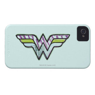 Wonder Woman Colorful Sketch Logo iPhone 4 Covers