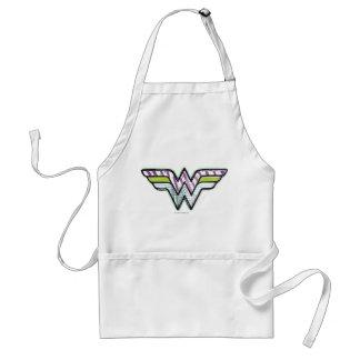 Wonder Woman Colorful Sketch Logo Standard Apron