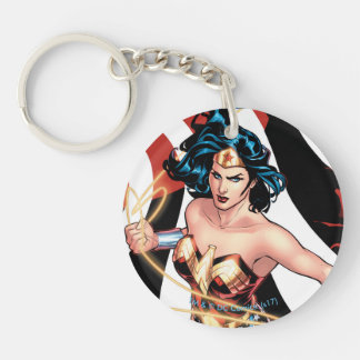 Wonder Woman Comic Cover #12 Double-Sided Round Acrylic Keychain