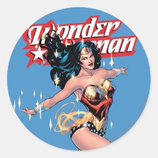 Wonder Woman Comic Cover Round Sticker