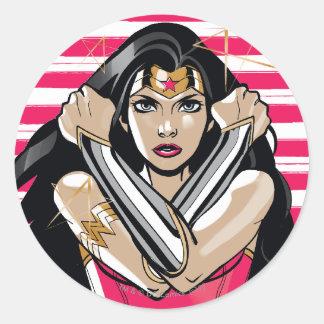 Wonder Woman Defend - Template Round Sticker