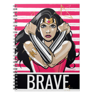 Wonder Woman Defend - Template Spiral Notebook