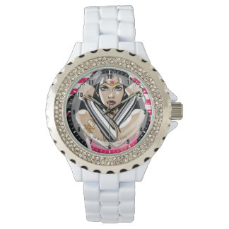Wonder Woman Defend - Template Wrist Watches