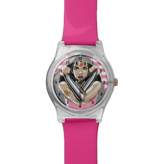 Wonder Woman Defend - Template Wristwatches