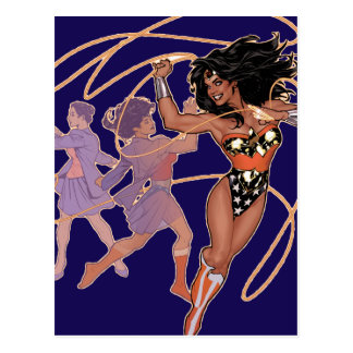 Wonder Woman Diana Prince Transformation Postcard
