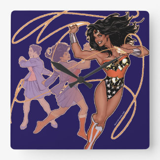 Wonder Woman Diana Prince Transformation Wall Clocks