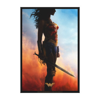 Wonder Woman Duststorm Silhouette Canvas Print