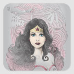 Wonder Woman Eagle and Trees Sticker