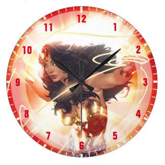Wonder Woman Encyclopedia Cover Large Clock