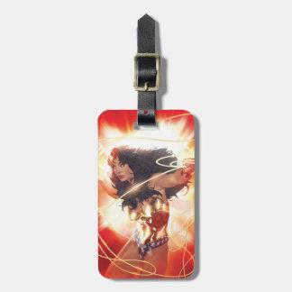 Wonder Woman Encyclopedia Cover Luggage Tag