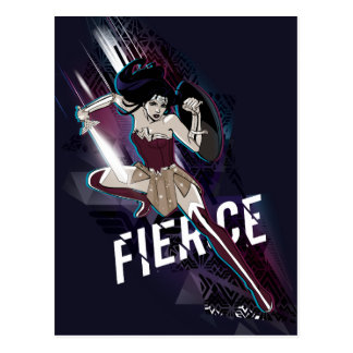 Wonder Woman - Fierce Postcard
