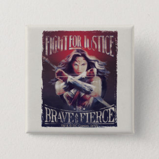 Wonder Woman Fight For Justice 2 Inch Square Button