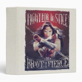 Wonder Woman Fight For Justice Vinyl Binders