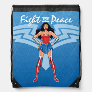 Wonder Woman - Fight For Peace Drawstring Bag