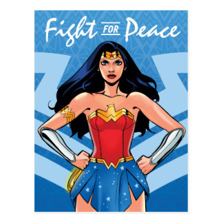 Wonder Woman - Fight For Peace Postcard