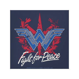 Wonder Woman Fight For Peace Symbol Canvas Print