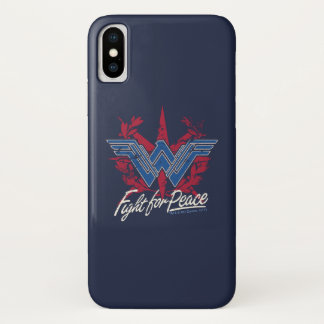 Wonder Woman Fight For Peace Symbol iPhone X Case