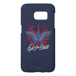 Wonder Woman Fight For Peace Symbol Samsung Galaxy S7 Case