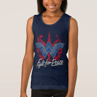 Wonder Woman Fight For Peace Symbol Tank Top