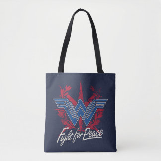 Wonder Woman Fight For Peace Symbol Tote Bag
