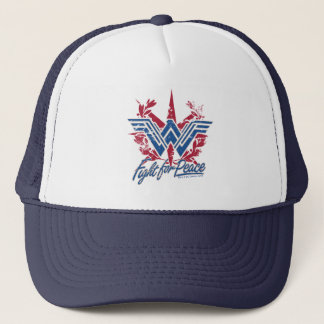 Wonder Woman Fight For Peace Symbol Trucker Hat