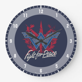 Wonder Woman Fight For Peace Symbol Wall Clocks