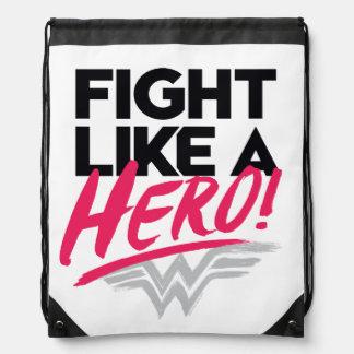 Wonder Woman - Fight Like A Hero Drawstring Bag