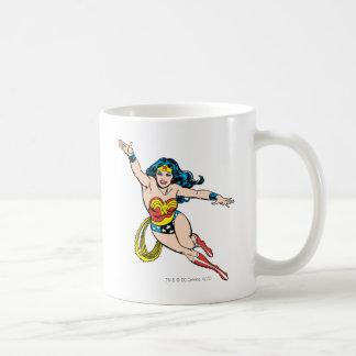 Wonder Woman Flying Forward Coffee Mug