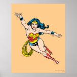 Wonder Woman Flying Forward Poster