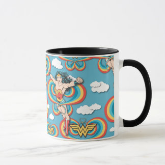 Wonder Woman Flying High Pattern Mug