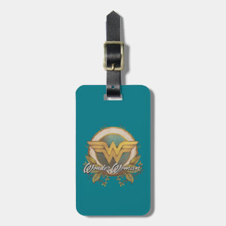 Wonder Woman Foliage Sketch Logo Luggage Tag