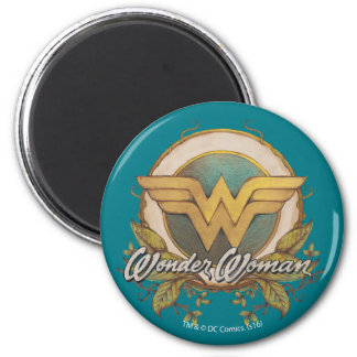 Wonder Woman Foliage Sketch Logo Magnet